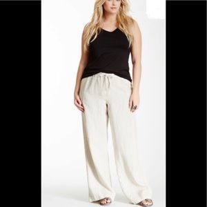 ❤️ALEN ALEN drawstring wide linen leg pants
